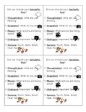 Fantastic Five Student Checklist