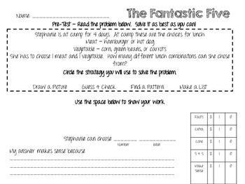 Fantastic Five Unit - A Word Problem/Problem Solving Strategy Unit