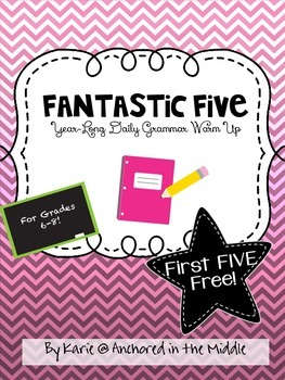 Fantastic Five Year-Long Grammar Daily Warm-Up- 1st Five f
