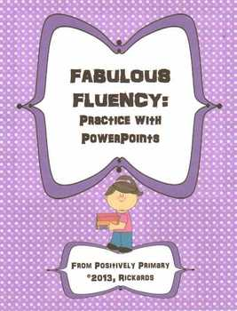 Fantastic Fluency: Practice with PowerPoints