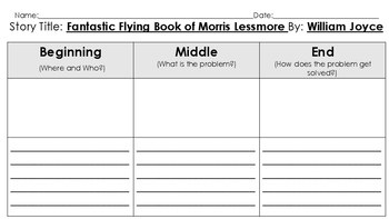 Fantastic Flying Books of Morris Lessmore Vocabulary & Comprehenion