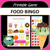 Fantastic Food Bingo - Cute Food Themed Bingo Game for Preschool & K-2 kids