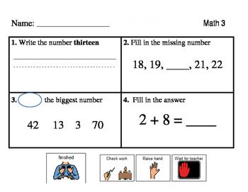 Fantastic Four Morning Work - Math