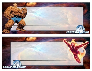 Fantastic Four Themed Desk Name Plates