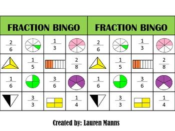 Fantastic Fraction Bingo