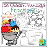 Ice Cream Sundae Fractions   Distance Learning