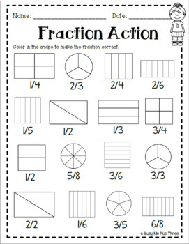 Fractions Book *SECOND GRADE VERSION* Includes Sixths and ...