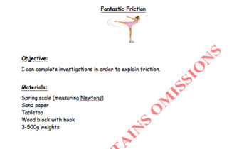 Fantastic Friction (motion, force, physics) Editable powerpoint included