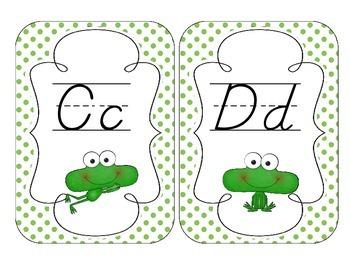 Fantastic Frogs Alphabet Cards: D'Nealian Version