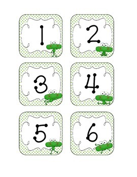 Fantastic Frogs Calendar Numbers, Months and Days