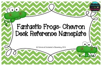 Fantastic Frogs Chevron Desk Reference Nameplates