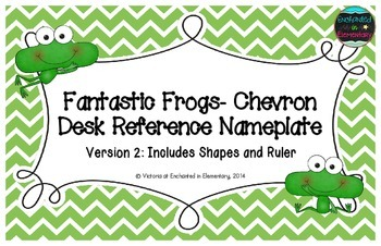 Fantastic Frogs Chevron Desk Reference Nameplates Version 2