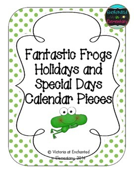 Fantastic Frogs Holiday Calendar Pieces