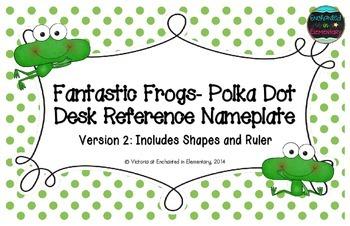 Fantastic Frogs Polka Dot Desk Reference Nameplates Version 2