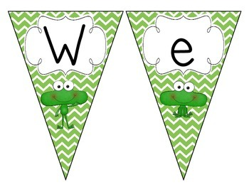 Fantastic Frogs Welcome Pennant: Chevron Set