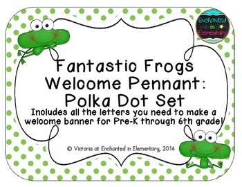 Fantastic Frogs Welcome Pennant: Polka Dot Set