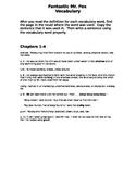 Fantastic Mr. Fox - Vocabulary booklet KEY