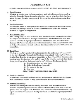 Fantastic Mr. Fox Literature Guide