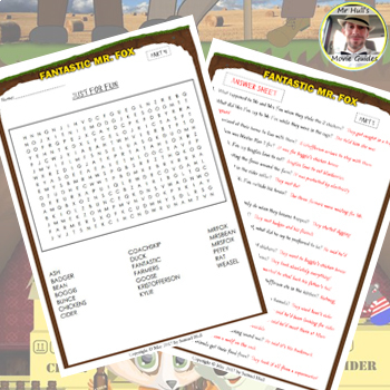 Fantastic Mr. Fox (2009) - Movie Guide Questions + Extras - Answer Keys Included