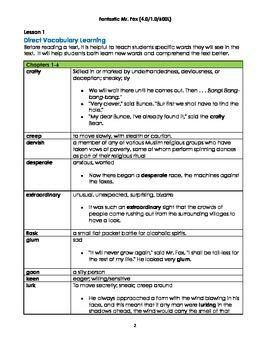 Fantastic Mr. Fox Assessment Pack