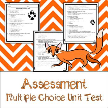 Fantastic Mr. Fox Assessment, Questions, and Vocabulary
