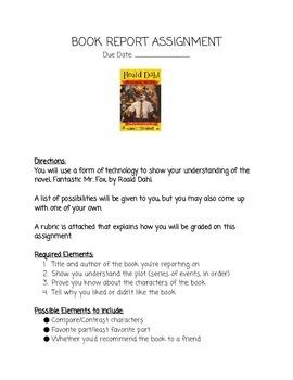 Fantastic Mr. Fox Book Report