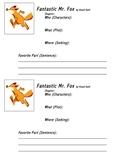 Fantastic Mr. Fox Chapter Tracker- Organizer