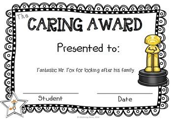 Fantastic Mr. Fox Character Trait Awards