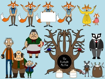 Fantastic Mr Fox Clip Art Set By Thebookwrangler Tpt