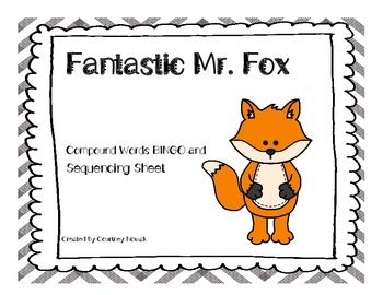 Fantastic Mr. Fox Compound Words Bingo and Sequence Page