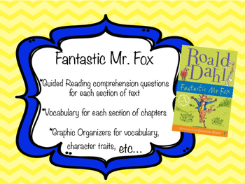 Fantastic Mr. Fox - Guided Reading Questions, Activities, Vocabulary