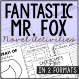 Fantastic Mr. Fox Interactive Notebook Novel Unit Study Activities, Book Report