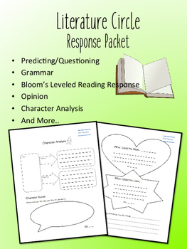 Fantastic Mr. Fox Literature Circle Response Packet- Book Club- Novel Study