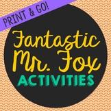 Fantastic Mr. Fox Novel Unit Study Activities, Book Compan