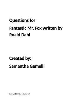 Fantastic Mr. Fox Questions