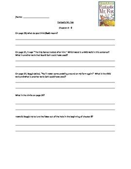Fantastic Mr. Fox Questions Chapter 5 - 8