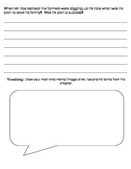 Fantastic Mr. Fox Reading Comprehension Sheets