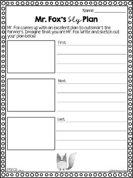 Fantastic Mr. Fox: Reading Response Activities and Projects