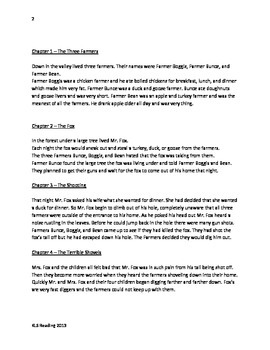 roald dahl book review template - fantastic mr fox roald dahl adapted book summary