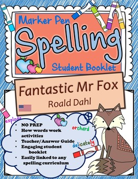 Fantastic Mr Fox Spelling Booklet US Version