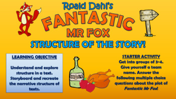 Fantastic Mr Fox - Structure of the Story!