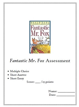 Fantastic mr fox teaching resources teachers pay teachers fantastic mr fox test excellent assessment fandeluxe Image collections