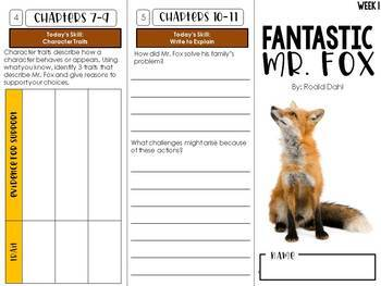 Fantastic Mr. Fox Trifold Novel Study Unit