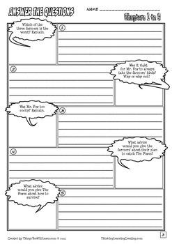 Fantastic Mr. Fox Workbook (Comic Style) Roald Dahl