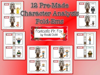 Fantastic Mr. Fox by Roald Dahl Character & Plot Analysis Fold-Ems