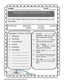 Fantastic Mr. Fox ( by Roald Dahl) - Comprehension and Vocabulary