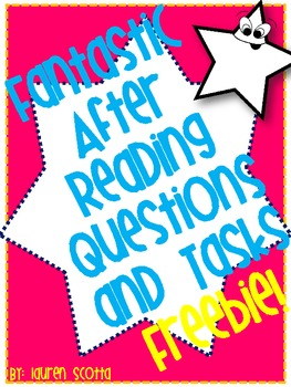 Fantastic Reading Questions and Tasks FREEBIE!!
