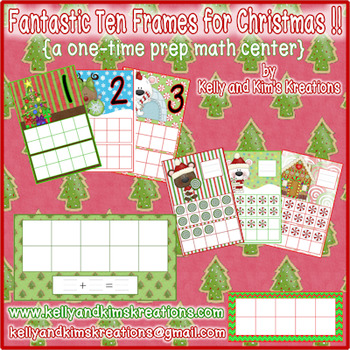 Fantastic Ten Frames for Christmas! {a one-time prep math center}