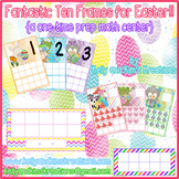 Fantastic Ten Frames for Easter! {a one-time prep math center}