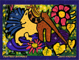 Fantasy Animals Print printable from Original Painting